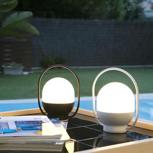lampada portatile / moderna / in legno / in policarbonato