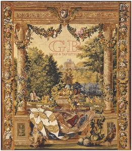 arazzo classico / a motivi / in lana / in lino