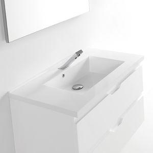 piano lavabo in marmo / in composito / in poliestere