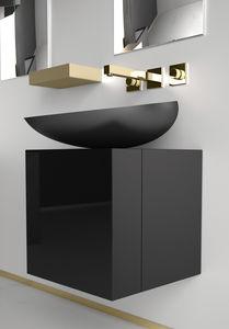 mobile lavabo sospeso / in laminato / moderno