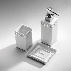 distributore di sapone contract / da appoggio / in ceramica / in cristallo Swarovski®