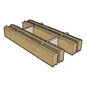 blocco di calcestruzzo di legno / per case a basso consumo energetico / ad alte prestazioni
