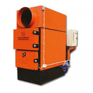generatore d'aria calda a pellet