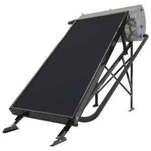 scaldacqua solare / da appoggio / orizzontale / con scambiatore di calore