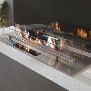 bruciatore a bioetanolo rettangolare / moderno / da incasso