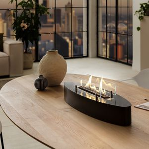 bruciatore a bioetanolo ovale / da tavolo