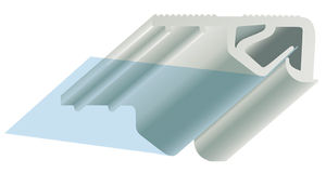 profilato per fissaggio in PVC
