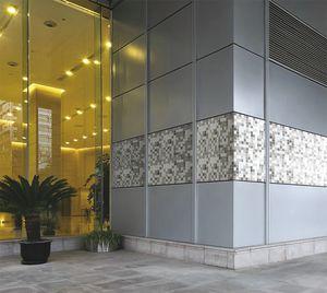 pannello in composito di rivestimento / in vetro / in gres porcellanato / per parete