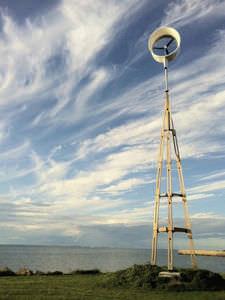 palo luce autoportante per turbina eolica