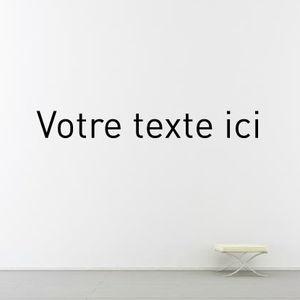 adesivo da parete con testo