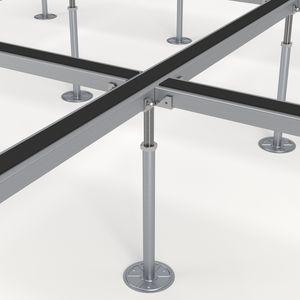 struttura per pavimento sopraelevato in metallo