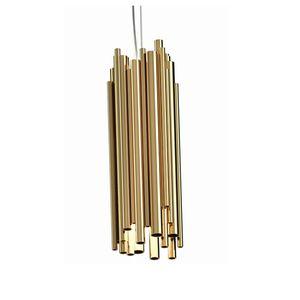 lampada a sospensione / Art Deco / in ottone / in ottone placcato oro