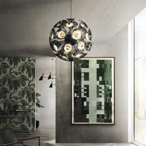 lampada a sospensione / Art Deco / in acciaio / in ottone
