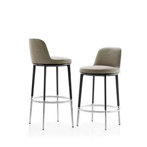 sedia alta moderna / imbottita / girevole / in tessuto