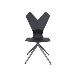 sedia moderna / impilabile / a slitta / ergonomica