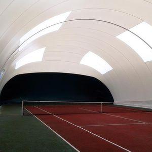 pressostruttura per campo da tennis