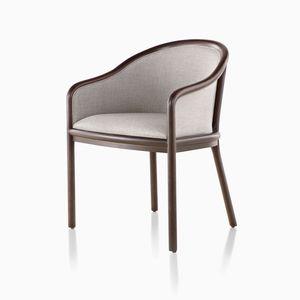 sedia visitatore moderna / con braccioli / imbottita / in tessuto