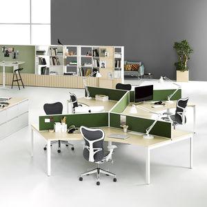 scrivania per open space / impiallacciata in legno / in laminato / in metallo