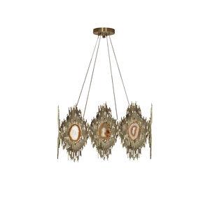 lampadario vintage / in ottone / in pietra