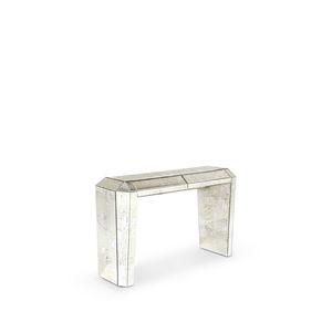 consolle Art Deco / in vetro / rettangolare / con cassetti