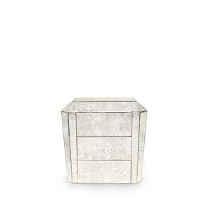 comodino Art Deco / in vetro / rettangolare / con cassetti