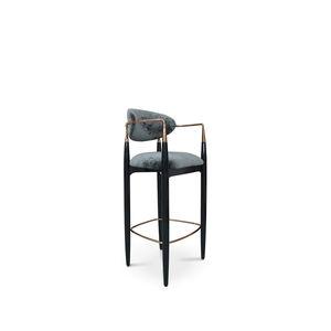 sedia alta classica / imbottita / con poggiapiedi / con braccioli