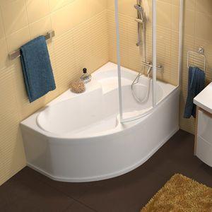 Vasca da bagno d'angolo / in acrilico - AVOCADO - RAVAK