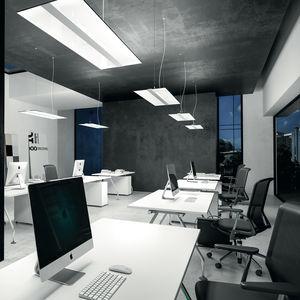 luce a sospensione / LED / rettangolare / in alluminio estruso