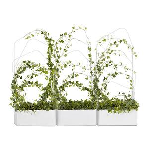 vaso da giardino in metallo / rettangolare / con graticolato
