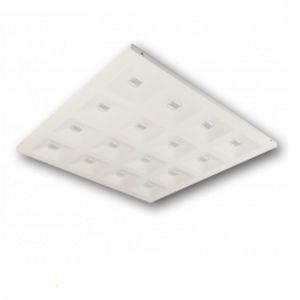 luce da incasso a soffitto / LED / quadrata / in lamiera d'acciaio