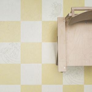 pavimento in linoleum / per interni / residenziale / a quadrotte
