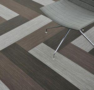 pavimento in tessuto / per il settore terziario / a doghe / testurizzato