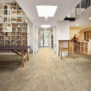 pavimento in linoleum naturale / per interni / per gradini / per il settore terziario