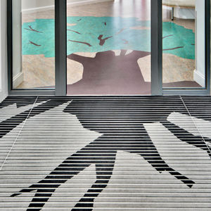 tappeto d'ingresso per edifici pubblici / in poliammide / antisporco / con profili
