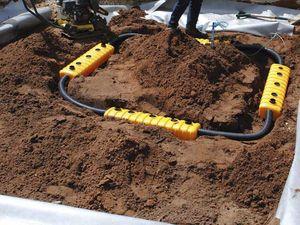 sistema di irrigazione per alberi