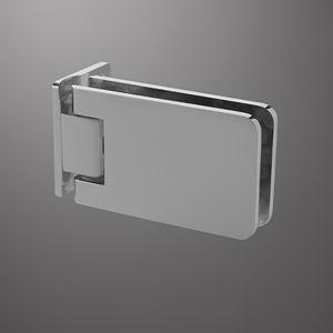 cerniera per porta a vetri / per mobile / in metallo / con sistema autochiudente