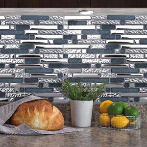 mosaico da interno / da parete / in ceramica / rettangolare