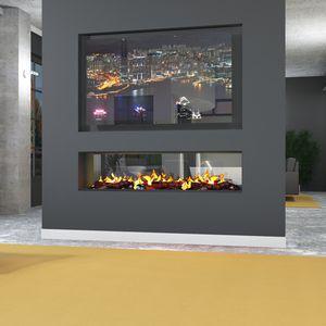 inserto per camini elettrico / a doppia faccia / telecomandato / con effetto fiamma