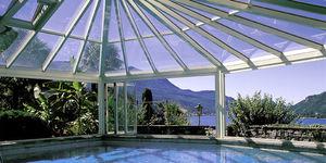 veranda in metallo / in vetro / per piscina