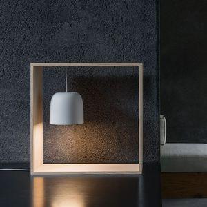 lampada da tavolo / moderna / in frassino / in policarbonato