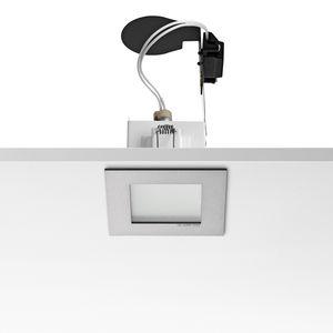 downlight da incasso a soffitto / alogeno / quadrato / in ghisa di alluminio