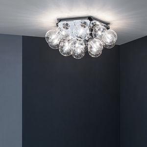 plafoniera moderna / in acciaio / in alluminio lucido / LED