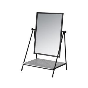 specchio da appoggio / con ripiano / girevole / moderno