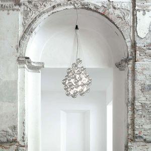 lampadario design originale / in vetro soffiato / in acciaio inossidabile / LED