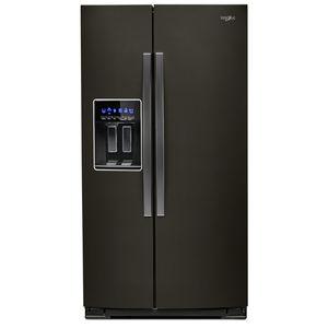 frigorifero per uso residenziale / americano / nero / in acciaio inox
