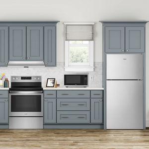 frigorifero combinato con congelatore alto / per uso residenziale / a 2 porte / grigio