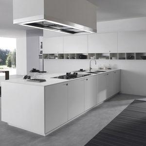 cucina moderna / in pietra / in alluminio laccato / in acrilico