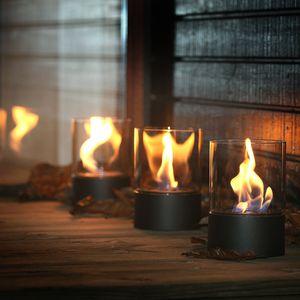 bruciatore a bioetanolo rotondo