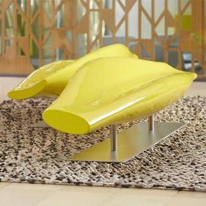 divanetto imbottito design minimalista / in fibra di vetro / contract / con schienale