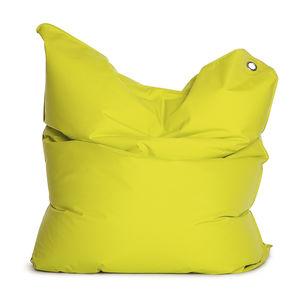 poltrona a sacco moderna / in tessuto / marrone / nera